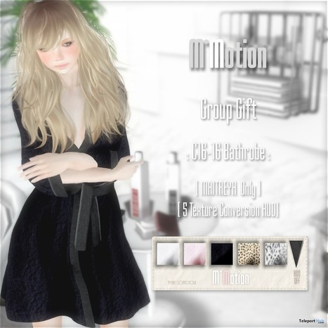 C16-16 Bathrobe January 2017 Group Gift by M*Motion | Teleport Hub - Second Life Freebies | Second Life Freebies | Scoop.it