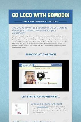 Go LOCO with EDMODO! | Ed Tech Sites to Explore | Scoop.it