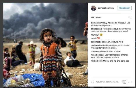 Bernard-Henry Lévy publie sur Instagram un cliché d'un photographe de l'AFP pris près de Mossoul... mais oublie de le créditer | Crise de com' | Scoop.it