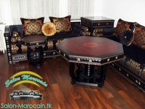 Salon Marocain Moderne Beige Marron Deco Maro