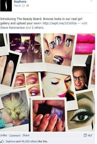 Sephora exec: Pinterest shoppers 15X more valuable than Facebook - Social networks - Mobile Commerce Daily   Pinterest Stats, Strategies + Tips   Scoop.it