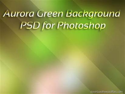 Green Aurora Photoshop PSD Background Free Down