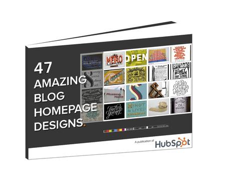 Free Collection: 47 Amazing Blog Homepage Designs | Les Livres Blancs d'un webmaster éditorial | Scoop.it