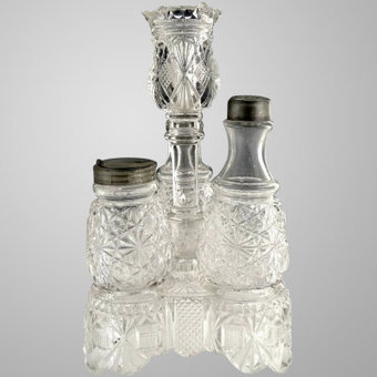 EAPG glass condiment stand jars toothpick exclusively at Victoria's Curio | Vintage Passion | Scoop.it
