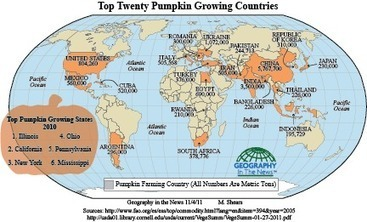 Geography in the News: Pumpkins | GIS in Education | Scoop.it