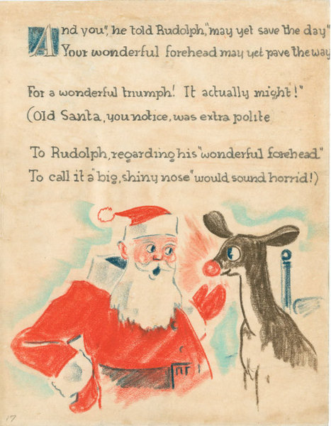 Writing 'Rudolph': The Original Red-Nosed Manuscript | Writing, Research, Applied Thinking and Applied Theory: Solutions with Interesting Implications, Problem Solving, Teaching and Research driven solutions | Scoop.it