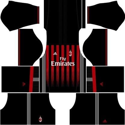 eafa0b370eb AC Milan Dream League Soccer Kits 2017-2018 URL  DLS Kits   Logo