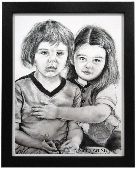 Pencil sketch portrait artist in noida 91 9958812195