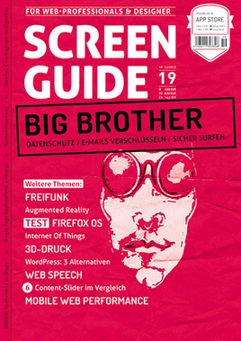 SCREENGUIDE 19 - Big Brother | Webstandards | Scoop.it