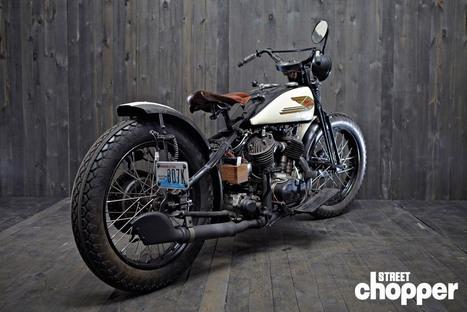 THOM JONES' 1936 HARLEY-DAVIDSON BIG TWIN - Street Chopper Magazine | vintage motos | Scoop.it