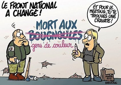 Image result for front national mort aux bougnoules