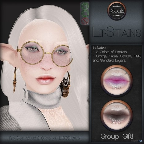 Lip Stains Group Gift by Soul | Teleport Hub - Second Life Freebies | Second Life Freebies | Scoop.it