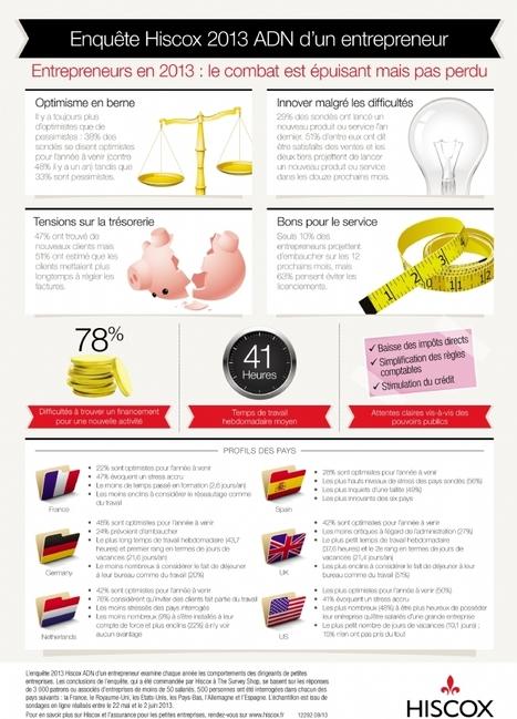 Infographie : Entreprendre en 2013, toujours plus stressant | Entrepreneuriat et startup : comment créer sa boîte ? | Scoop.it