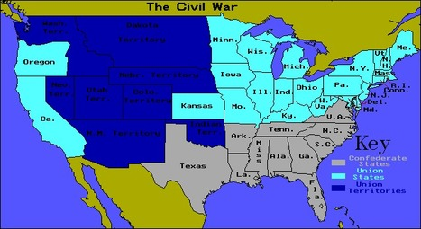 Map of U.S.A. during Civil War 1861-1865 | Year...