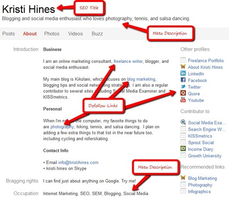 How to Optimize 7 Popular Social Media Profiles for SEO | Understanding Social Media | Scoop.it