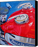 Ductalk Gift Guide | Ducati Single Painting by Wendy Barrett | fineartamerica.com | Ductalk Ducati News | Scoop.it