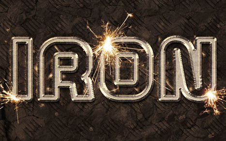 Iron text effect with sparks   Photoshop Text Effects Journal   Scoop.it