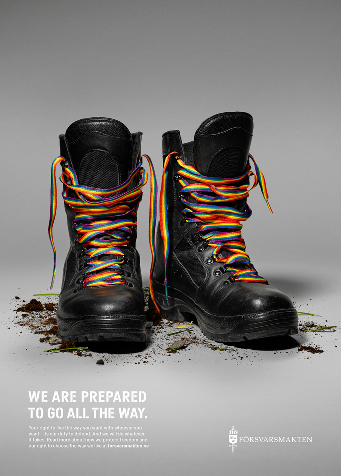This Pride Ad by the Swedish Armed Forces Conveys a Simple Message About LGBT Rights