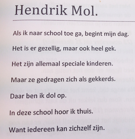 Prachtig Gedicht Van Leerling Van Vso Cluster