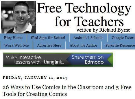 Free Technology for Teachers: 26 Ways to Use Comics in the Classroom and 5 Free Tools for Creating Comics | onderwijsideeën op het web | Scoop.it