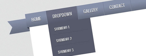 Tutorial - Create a Ribbon DropDown Menu with CSS3 and jQuery | Flash User | Basics and principles for a good  Web Design | Scoop.it