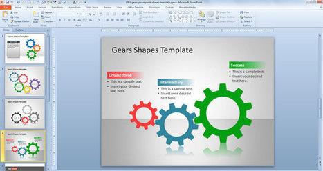 free gears powerpoint shapes template free bu