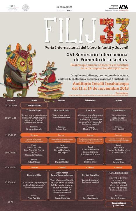 programa filij 33, xvi seminario internacional de fomento de la lectura | Niños, cuentos y literatura infantil | Scoop.it