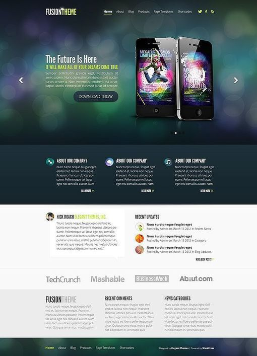 WordPress Themes Elegant Themes Length Cm