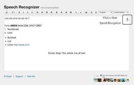 Speech Recognizer, 'app' para Chrome que convierte voz en texto editable | Las TIC y la Educación | Scoop.it