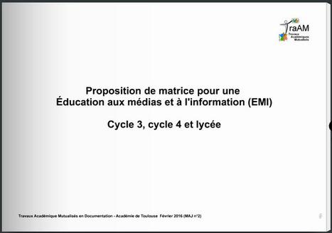 Matrice EMI : mise à jour février 2016 | Pédagogie info-documentaire en CDI | Scoop.it