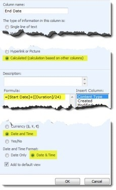 SharePoint Calculated Columns - adding hours onto a date field. | Pentalogic Technology | SharePoint-tips-and-tricks | Scoop.it