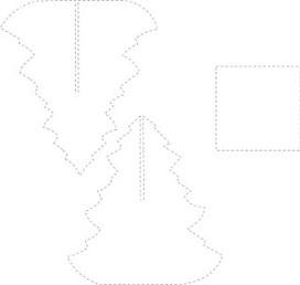 molde arbol navidad 3d en foami para recortar