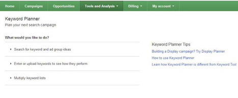 New Google Ad words Keyword Planner | Search Indus Updates | Scoop.it