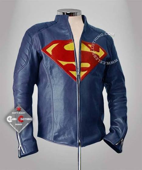 Man of Steel Leather Jacket | Superman Man of Steel Costume | Scoop.it