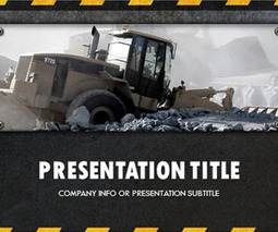 Free construction powerpoint template natural free construction powerpoint template natural resources oil gas coal scoop toneelgroepblik Image collections