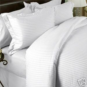 sheetsnthings- Beige Full Size Flat Sheets- Top Sheet Made from 100/% Long Staple Cotton 300 Thread Count,Damask Striped 80 Wide X 94 Long