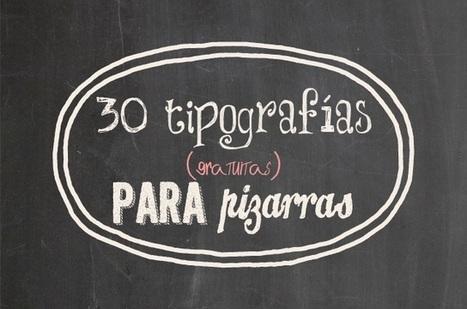 30 tipografías de pizarra para descargar gratis | El rincón de mferna | Scoop.it