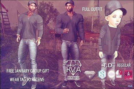 Outfits For Men and Kid Avatar January 2017 Group Gift by R2A Creations | Teleport Hub - Second Life Freebies | Second Life Freebies | Scoop.it