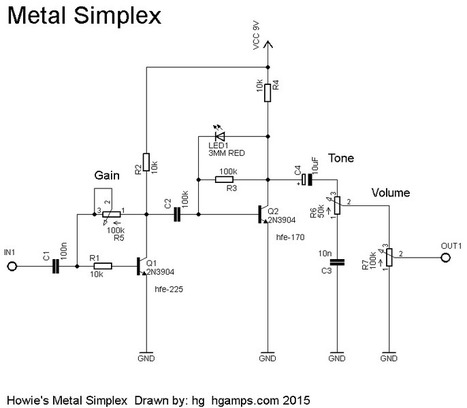 Metal Simplex Fuzz - H&G Amplifiers | DIY Music & electronics | Scoop.it