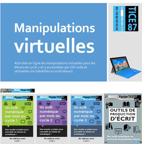 1 livret de plus par @EquipeTICE87 Manipulations virtuelles - à faire avec l'ordinateur ou avec la tablette | Ressources Ecole | Scoop.it