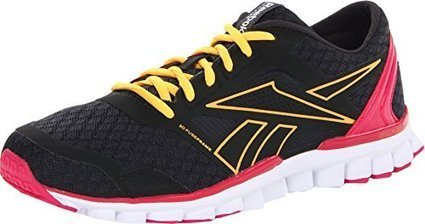 reputable site eaf18 e57df Reebok Women s Real Flex Speed 2.0 Running Shoe,Gravel Neon Orange Candy  Pink Rivet Grey,10 M US