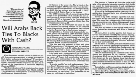 Bombshell Obama Vetting: 1979 Newspaper Article By Valerie Jarrett Father-In-Law Reveals Start Of Arab Purchase Of U.S. Presidency « Pat Dollard | Littlebytesnews Current Events | Scoop.it