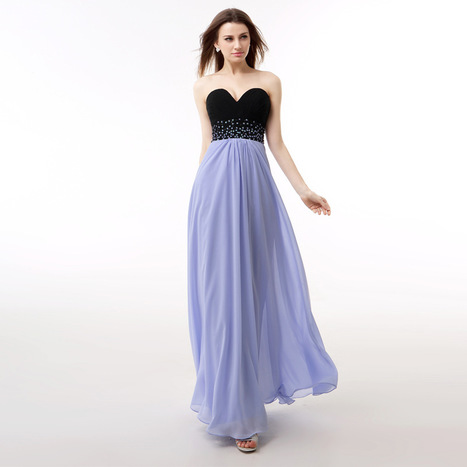 Stunning A Line Prom Dressess Sheer Bateau Neckline Sleeveless Light Blue Ruched Chiffon Draped Backless Evening Gowns Beads Crystals Custom