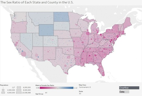 What is the the Sex Ratio of Each State and County in the U.S.? | Digital Imaging - Telling the Story | Scoop.it