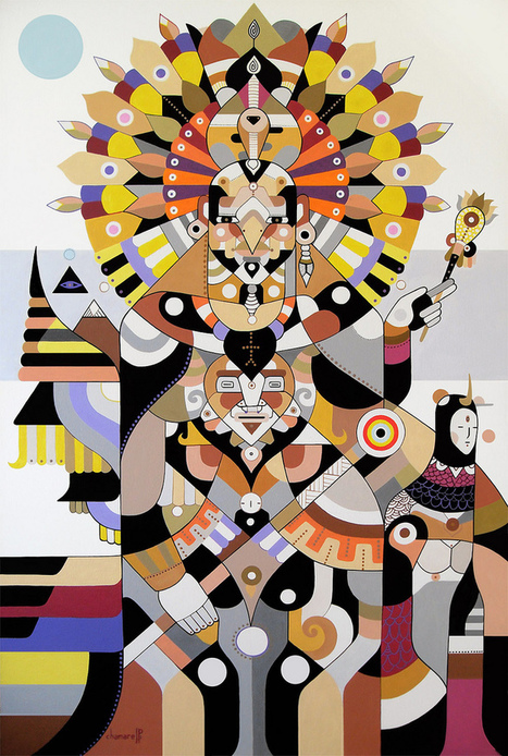 Fernando Chamarelli uses acrylic on canvas to make multifaceted works of art. | #Design | Scoop.it