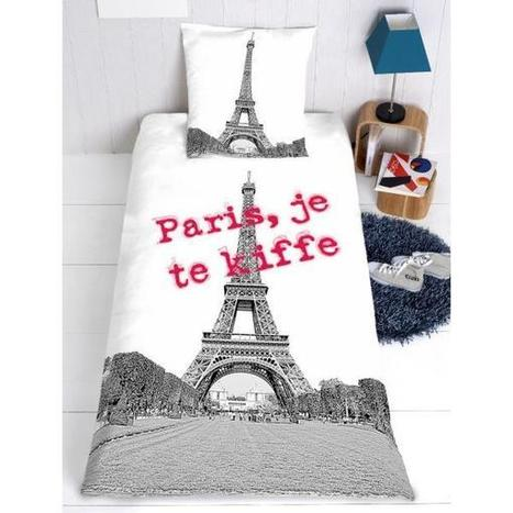 housse de couette tour eiffel personnalis eacut. Black Bedroom Furniture Sets. Home Design Ideas