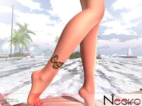 55db99478 Butterfly Ankle Tattoo 5L Promo by Neeko