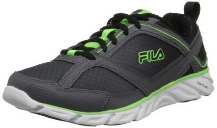 Fila Men's Memory Stride 2 Running Shoe,Pewter