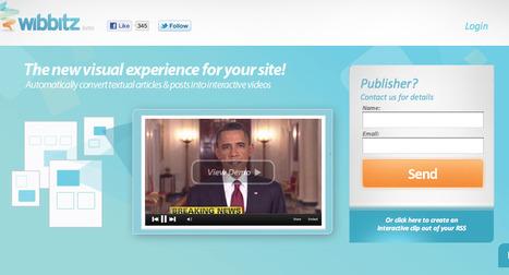 Wibbitz   Automated Interactive Videos   Technology Ideas   Scoop.it