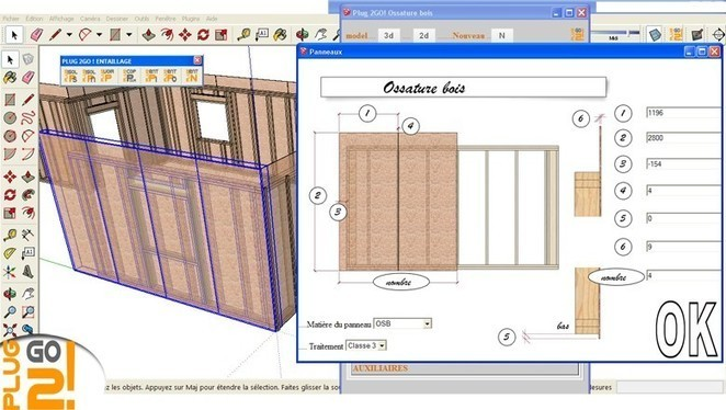 plugin ossature bois sketchup